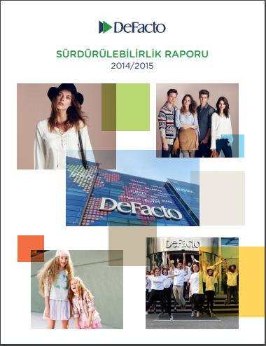 Defacto Sürdürülebilirlik Raporu 2014-2015