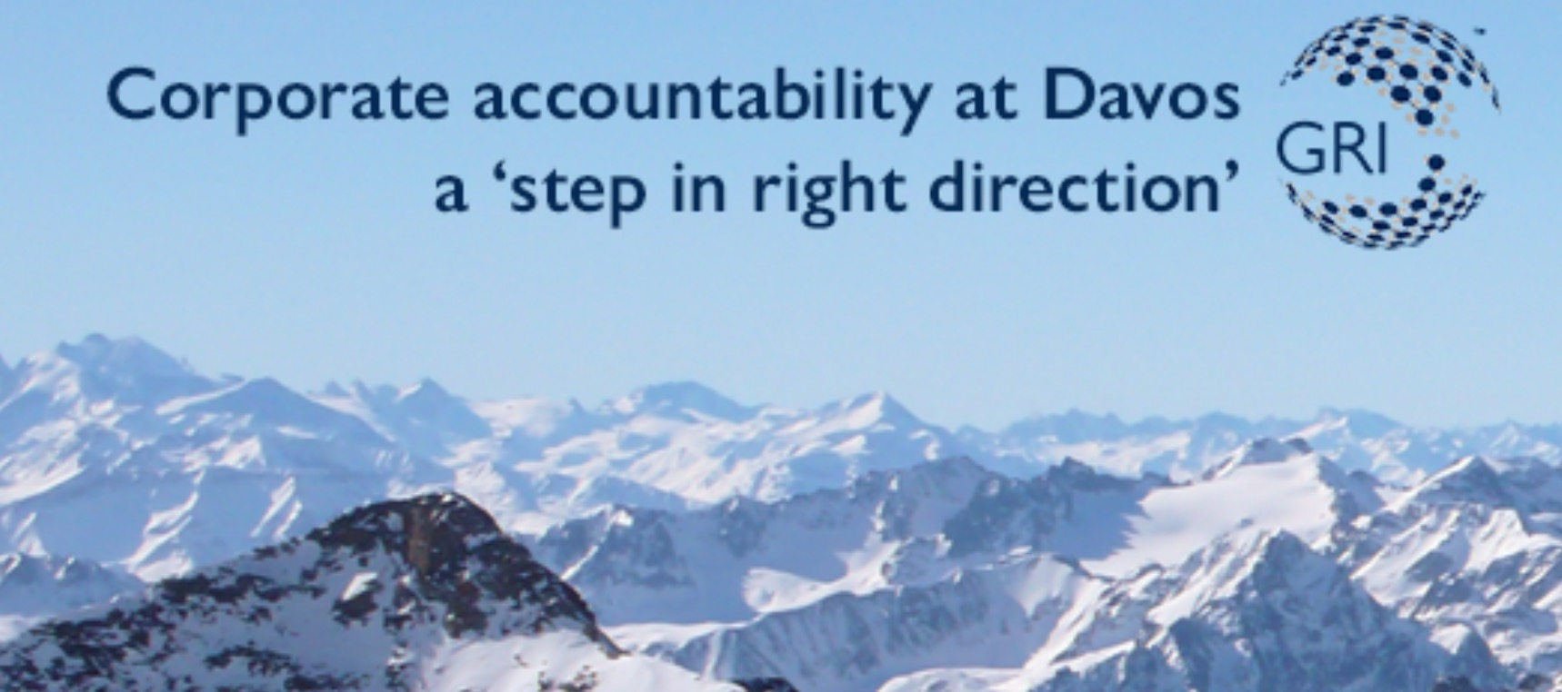 GRI, Davos Dünya Ekonomik Forumu'nda